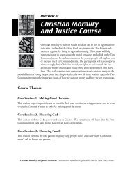 Christian Morality and Justice Course - Saint Mary's Press