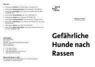 Hunde: Gefährliche Rassen Barrierefrei, Broschüre, PDF , 55.5 KB