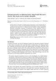 Fictional narratives as didactical tools - Culture & Education