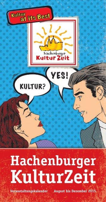 Hachenburger Kulturzeit - Veranstaltungskalender 2015