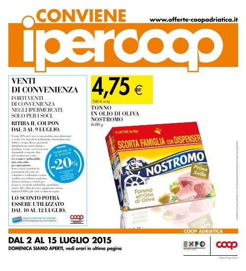 Materasso Memory Offerta Coop.130715 Ipercoop Centro Dabruzzo Venti Di Convenienza