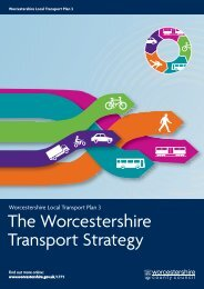 Local Transport Plan 3 - Worcestershire County Council
