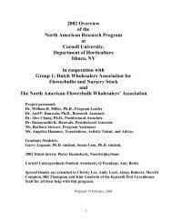 2002 Overview of the North American Research Program at Cornell ...