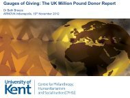 Gauges of Giving: The UK Million Pound Donor Report - Charitable ...