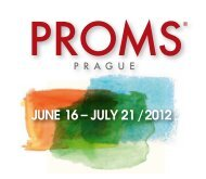 june 16 – july 21 / 2012 - Prague Proms 2012