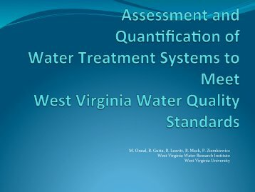 Presentation - West Virginia Mine Drainage Task Force