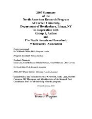 2007 Summary of the North American Research Program At Cornell ...