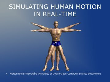 SIMULATING HUMAN MOTION IN REAL-TIME - Visionday