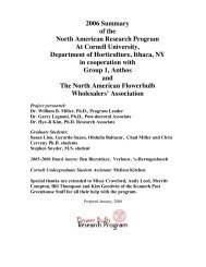 2006 Summary of the North American Research Program At Cornell ...