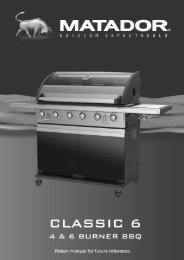 Download PDF manual - Matador BBQs