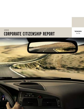 CORPORATE CITIZENSHIP REPORT - Ethical Performance