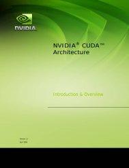 CUDA Architecture Overview - Nvidia