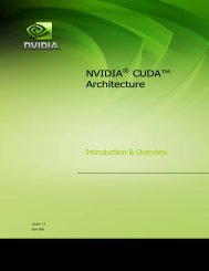 CUDA Architecture Overview - Nvidia