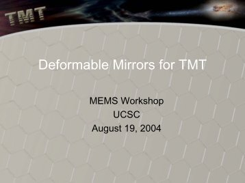 Deformable Mirrors for TMT - Laboratory for Adaptive Optics