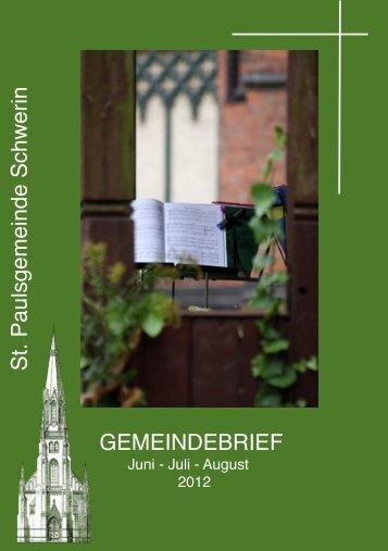 St.Paul Schwerin Juni - Aug ´12 - Kirchenkreis Wismar