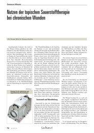 Nutzen der topischen Sauerstofftherapie bei chronischen Wunden
