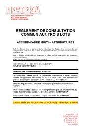 reglement de consultation commun aux trois lots accord ... - Epadesa