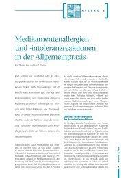 Medikamentenallergien und -intoleranzreaktionen in der ...