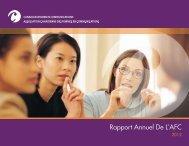 Rapport Annuel De L'AFC