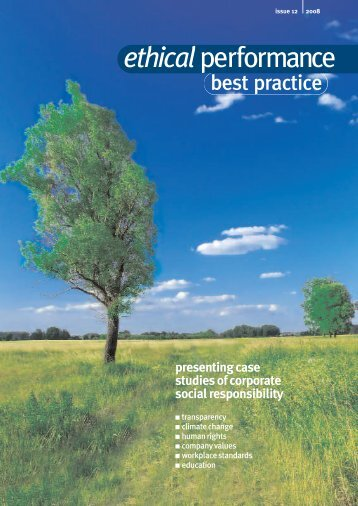 Best Practice, Issue 12 - Ethical Performance