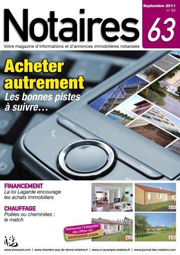 "Journal des Notaires ""Notaires 63"" - Le Journal des Notaires"
