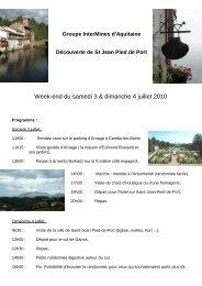 Week-end du samedi 3 & dimanche 4 juillet 2010 - Intermines