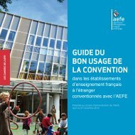 Guide du bon usage de la convention dans les ... - AEFE