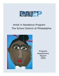 Artist in Residence Program, Program Assessment Report 2006