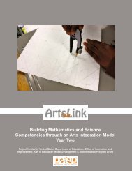 Building Mathematics and Science Competencies through an Arts ...