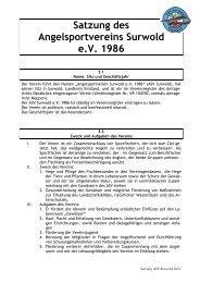 ASV Surwold Satzung endgültige Fassung 2011