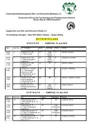 Zeiteinteilung - RuFV Hilden eV