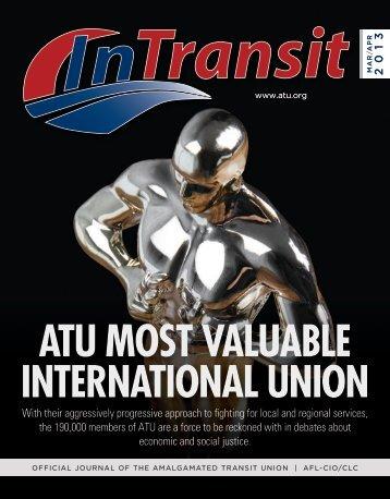 ATU MOST VALUABLE INTERNATIONAL UNION - Amalgamated ...