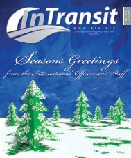 from the International Officers and Staff - Amalgamated Transit Union