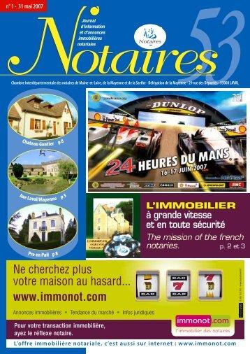 "Journal des Notaires ""Notaires 53"" - Le Journal des Notaires"