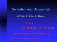 M Walz, R Bolte, M Haimerl Krypthographie