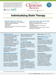 Individualizing Statin Therapy - Partners in Healthcare Education