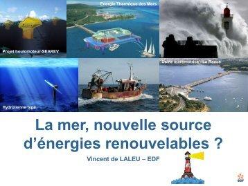 """1 La mer, nouvelle source d""""énergies renouvelables"""