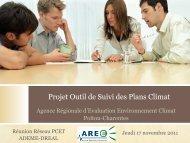 Présentation de l'Outil de Suivi des Plans Climat - DREAL Poitou ...