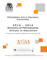 PAEP Directory of Artists - Philadelphia Arts In Education Partnership