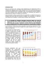 La synthèse de l'étude - Aménagement Numérique des Territoires