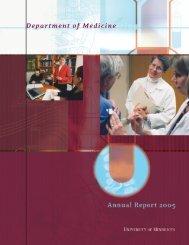 Department of Medicine - Surgery - University of Minnesota