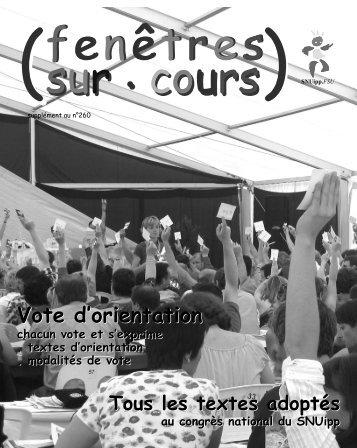 Vote d'orientation Vote d'orientation - SNUipp