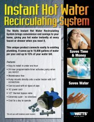 Watts Premier's instant Hot Water Recirulating System - DRF Total ...