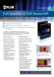 FLIR QuickPlot & FLIR ResearchIR