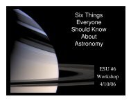Six Things Everyone Should Know About Astronomy