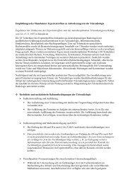 Empfehlungen des Mannheimer Expertentreffens zu Anforderungen ...