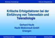 Kritische Erfolgsfaktoren bei der Einführung von Telemedizin und ...