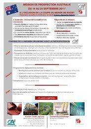 mission de prospection australie du 19 au 24 septembre 2011