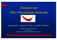 Evaluation des CHILI-Teleradiologie-Verbundes