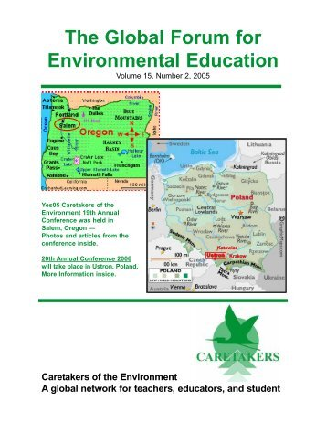 The Global Forum for Environmental Education, Volume 15, Number 2 ...